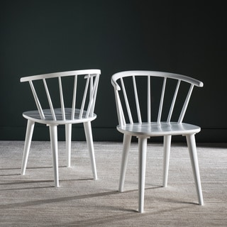 Safavieh Blanchard White Side Chair (Set of 2)