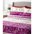 Glory Home 1000 Series 6-piece Sheet Set Purple Geometric Swirls