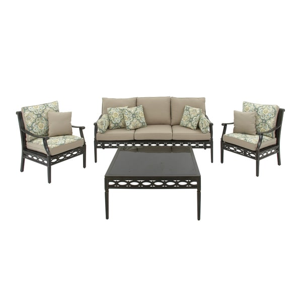 Aluminum Sofa Set, 4 piece