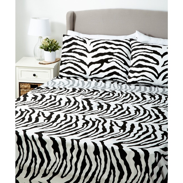 Glory Home 1000 Series 6-piece Sheet Set Zebra Print