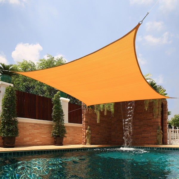 Large Square Sail Sun Shade in Yellow (As Is Item)
