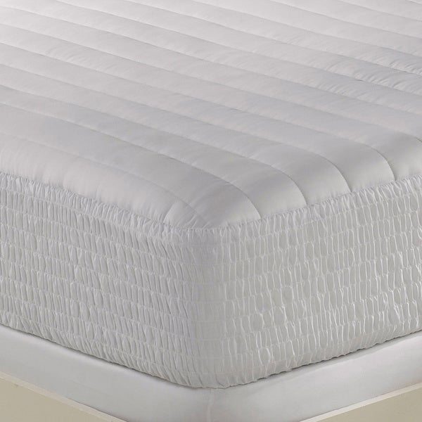Beautyrest 300 Thread Count Egyptian Cotton Mattress Pad in Queen (As Is Item)