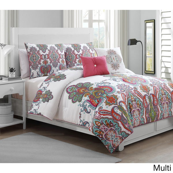 Avondale Manor Melisenta 5-piece King Reversible Comforter Set in Multi (As Is Item)