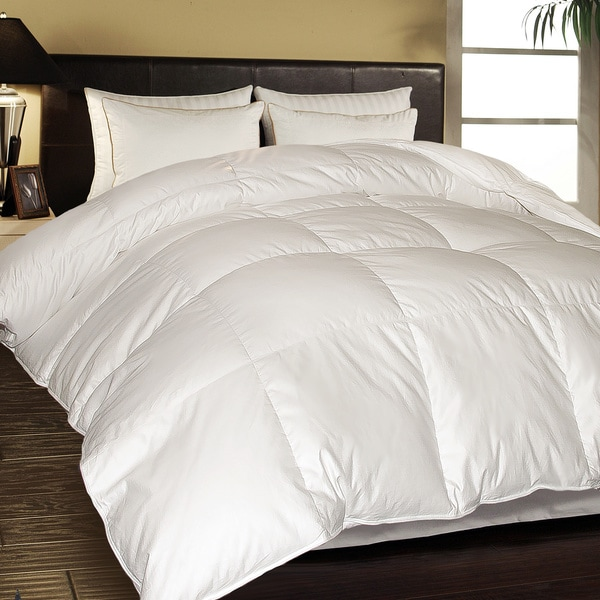 Hotel Grand 1000 Thread Count Egyptian Cotton Oversized White Down King Comforter (As Is Item)