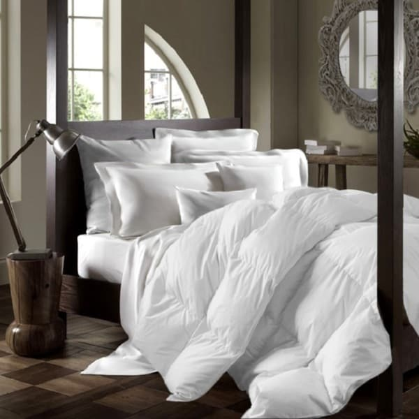 White Duck Down Duvet Queen Comforter in White (As Is Item)