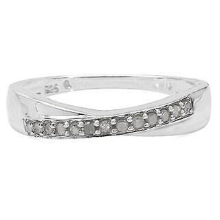 Malaika Sterling Silver 1/10ct TDW Diamond Ring (I-J, I2-I3)