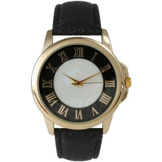 Olivia Pratt Women's Stainless Steel and Leather Quartz Watch