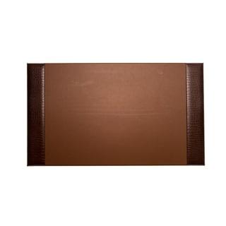 Bey Berk Brown Croco Design Leather Desk Pad