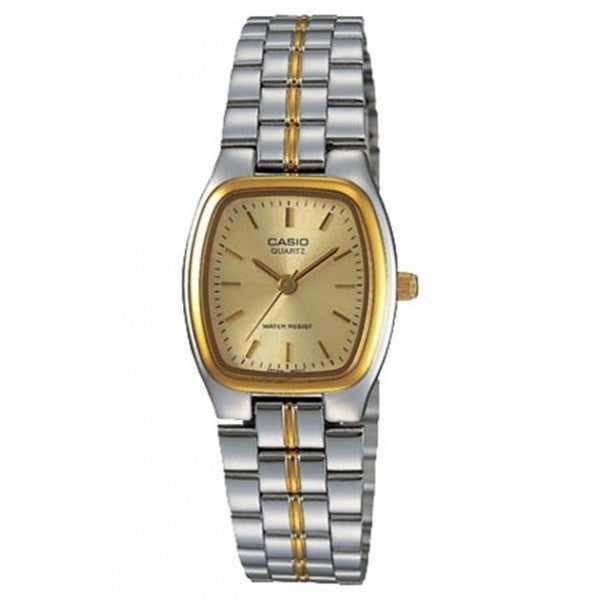 Casio Women's LTP-1169G-9A Classic Square Two-tone Stainless Steel Bracelet Watch