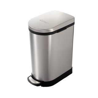Heim Concept 2.6-gallon Stainless Steel Step Trash Can with Slow Down Close