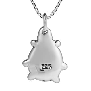 Playful Spirit Chubby Ladybug .925 Sterling Silver Necklace (Thailand)