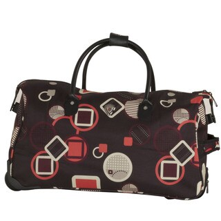 CalPak Soho Pink Geo 21-inch Rolling Satchel Duffel Bag
