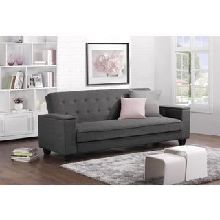 DHP Union Grey Laptop Tray Futon