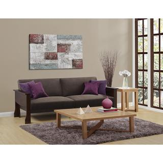 DHP Westwood Mahogany Wood Convertible Sofa Sleeper