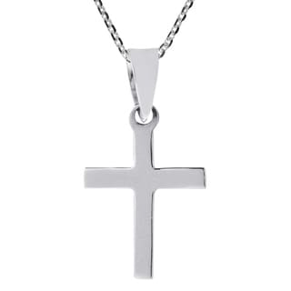 Faith Simplicity Cross .925 Sterling Silver Necklace (Thailand)