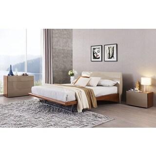 Monaco Champagne/ Walnut Platform Bed
