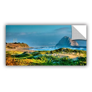 ArtAppealz Steve Ainsworth 'Morro Rock and Beach' Removable Wall Art