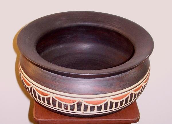 Hand-carved Ashanti Bowl (Ghana)