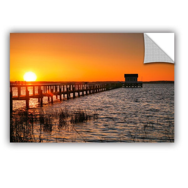 ArtAppealz Steve Ainsworth 'House At The End Of The Pier' Removable Wall Art