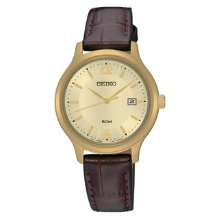 Seiko Women's SUR776 Stainless Steel Gold Tone Watch