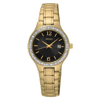 Seiko Women's SUR768 Stainless Steel Gold Tone Watch
