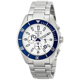 Bulova Men's 98B204 Stainless Steel Marine Star Chronograph Watch