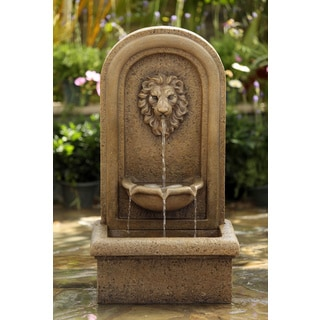 Lion Head Garden Water Fountain