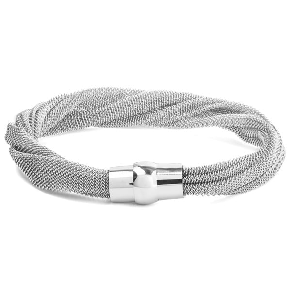 ELYA Stainless Steel Twisted Mesh Bracelet 15820985