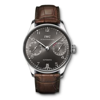 IWC Men's IW500106 'Portuguese' 18kt White Gold Chronograph Automatic Brown Leather Watch