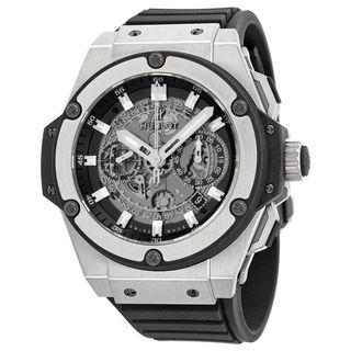 Hublot Men's 701.NX.0170.RX 'King Power' Black Rubber Watch
