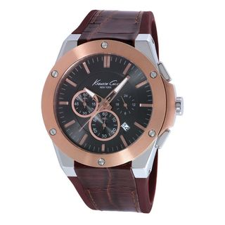 Kenneth Cole Men's KC8087 Chronograph Brown Leather Watch