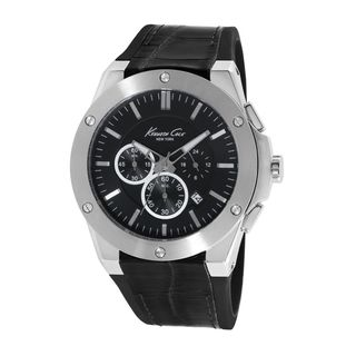 Kenneth Cole Men's KC8086 Chronograph Black Leather Watch