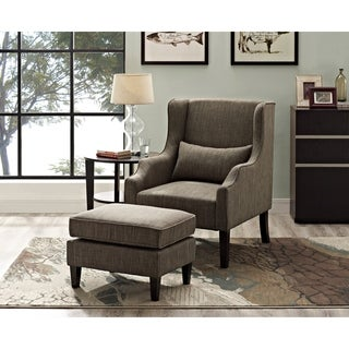 Wyndenhall Leyton Wingback Club Chair and Ottoman