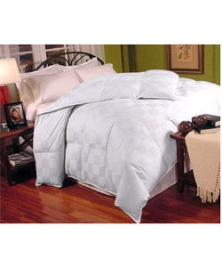 Italian Check 300 Thread Count Down Fiber Blend Comforter