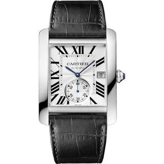 Cartier Men's W5330003 'Tank MC' Automatic Black Leather Watch