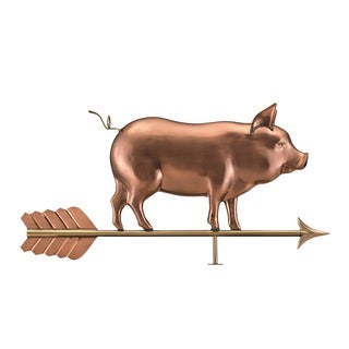 Good Directions Country Pig Weathervane  Polished Copper