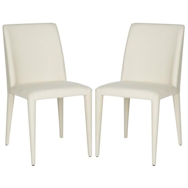 Safavieh Mid-Century Dining Garretson Linen Beige Side Chairs (Set of 2) -  FOX2019F-SET2