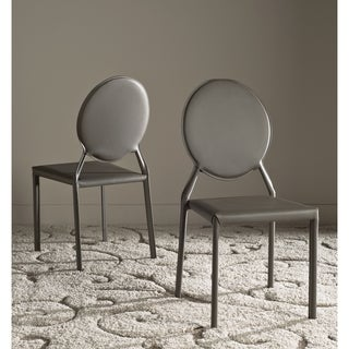 Safavieh Warner Grey Side Chair (Set of 2)
