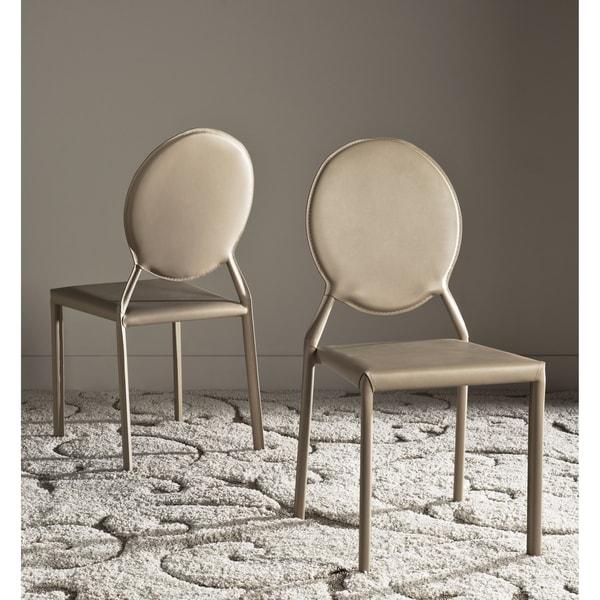 Safavieh Metropolitan Dining Warner Taupe Side Chairs (Set of 2) -  FOX2018E-SET2