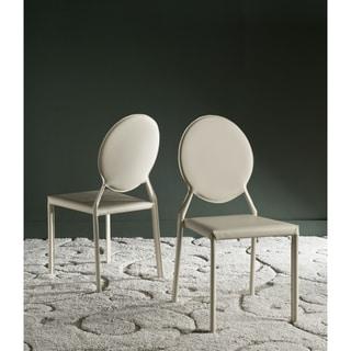 "Safavieh Dining Mid-Century Warner Buttercream Dining Chairs (Set of 2) - 17.3"" x 22.5"" x 37.4"""