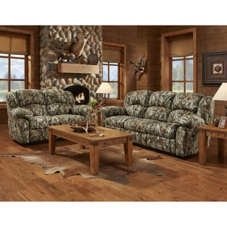 Exceptional Designs Camouflage Upholstered Reclining Living Room Set