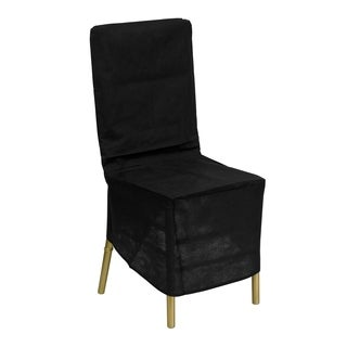 Black Fabric Chiavari Chair Cover