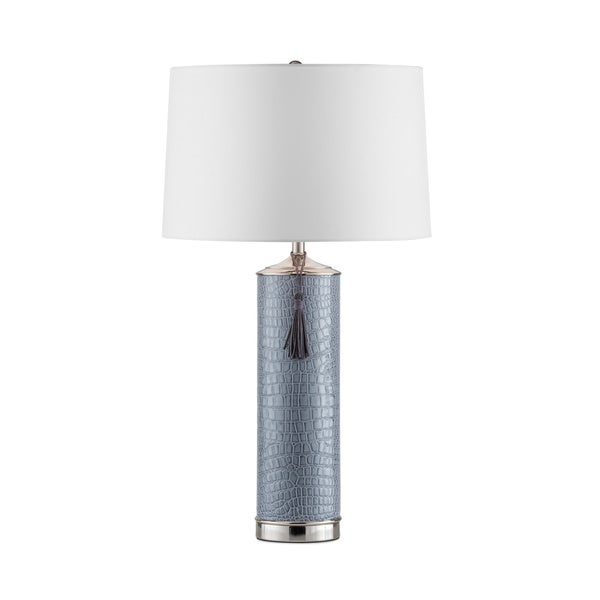 Grey Croc Table Lamp