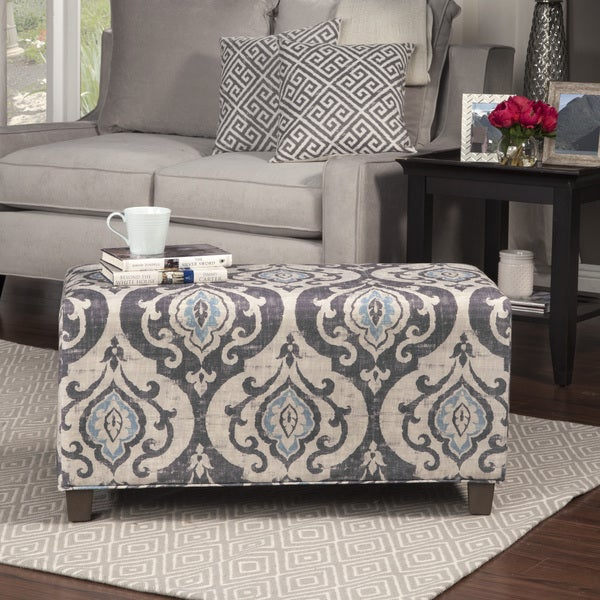 HomePop Blue Slate Decorative Bench