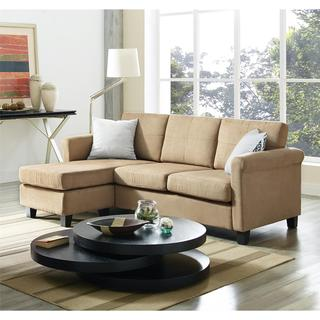 Dorel Living Small Spaces Microfiber/ Faux Leather Configurable Sectional Sofa