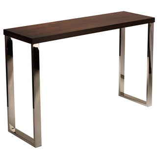 Cortesi Home Achille Contemporary Console Table with Chrome Legs