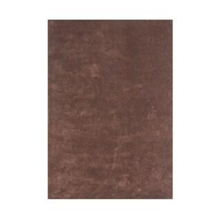 Handmade Alliyah Brown New Zealand Blend Wool Rug (5x8)