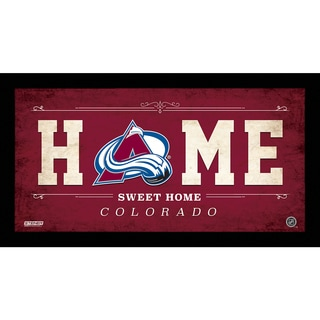 Colorado Avalanche 10x20 Home Sweet Home Sign