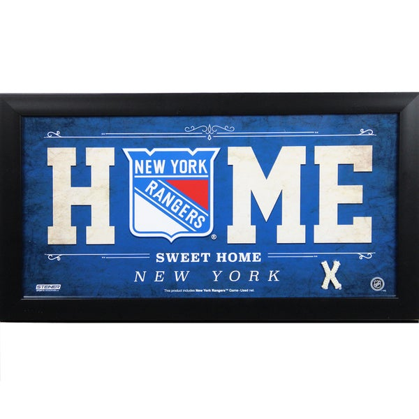 New York Rangers 10x20 Home Sweet Home Sign