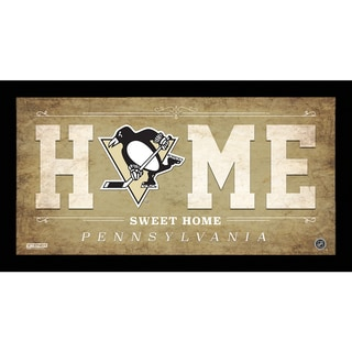 Pittsburgh Penguins 10x20 Home Sweet Home Sign